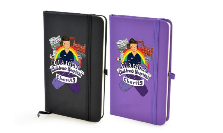 notepad black and purple